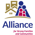 The logo of the Alliance for Strong Families and Communities.
